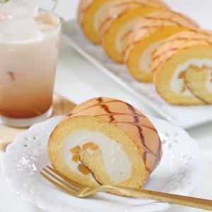 矢羽根のロールケーキ