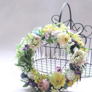 【1DAYレッスンのご案内】春のお花で作るイースターリース!