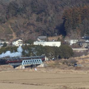 小貝川を渡る白煙 - 2019年・真岡鉄道 -