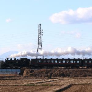 男体山を背景に白煙 - 2020年・真岡鉄道 -