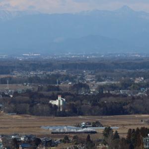 袈裟丸山から皇海山を背景に白煙 - 2020年・真岡鉄道 -