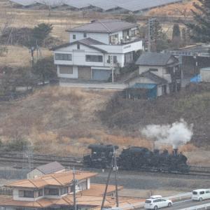 駅外れの蒸気機関車と車掌車 - 2020年・東武鬼怒川線 -