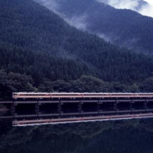 雨上がりの飛騨川 - 1987年・高山本線 -