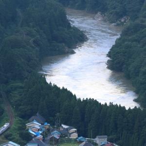 夕日の阿賀野川 - 2020年盛夏・磐越西線 -
