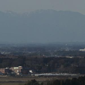 遠くに雪山を望んで白煙が走る - 2020年・真岡鉄道 -
