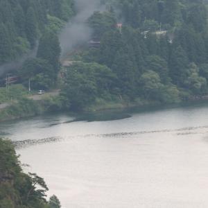 緑の阿賀野川と夏煙 - 2021年初夏・磐越西線 -