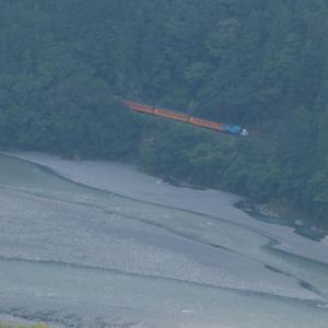 緑の森と翠の大井川と青とオレンジのトーマスくん - 2021年残暑・大井川鉄道 -