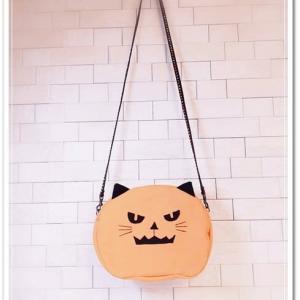 ハロウィン三部作、ラスト作品! オバケかぼちゃ?っぽい猫ちゃんバッグ、完成!!