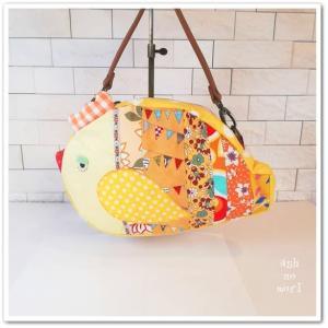 真っ黄色の、小鳥さんそのものバッグ!マルシェルにupしました!