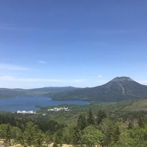 阿寒湖一望の白頭山展望台