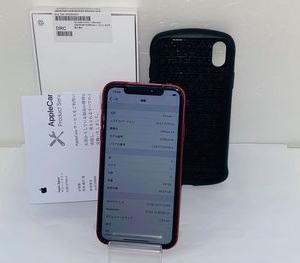 アップル交換品☆au iPhoneXR 64GB★MT062J/A☆レッド★おまけ付き☆買取りました♪