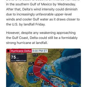 【2度ある事は3度ある】のかもしれない!またまたハリケーンが向かってきてます