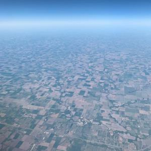 【空の旅】上空からの地上の様子に萌える