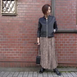 CYNICALシニカル☆プリント柄プリーツスカート