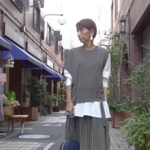 プライオリティ☆重ね着ニット&シャツセット