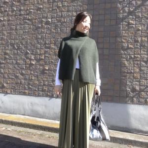 プライオリティ☆レザータッチプリーツスカート