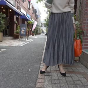 プライオリティ☆ベロア調プリーツスカート