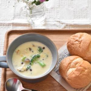 レシピブログでの連載更新しました♪コーンクリーム缶で簡単♪豆乳スープ
