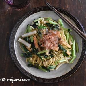 群馬県産小松菜とちくわの 麺つゆ焼きそば~ぐんまアンバサダー