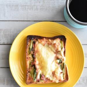 冷凍作り置きトースト~アスパラとベーコンのマヨトースト
