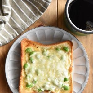 冷凍作り置きトースト~枝豆トースト