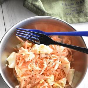 シャキシャキ人参とゆで卵のサラダ
