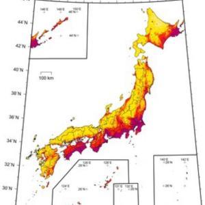 【警告】震度6弱以上の「予測地図」公開世界地震の約1割は日本周辺チェック