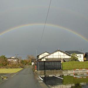 昨日の3時の虹