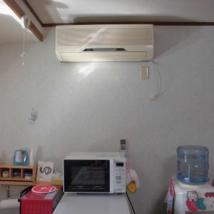 台所のエアコン取替