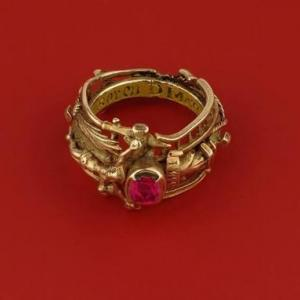 プロポーズのもとになった、ルビーの結婚指輪