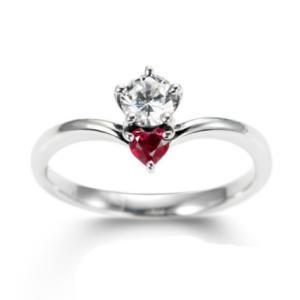 伝統的な形… ルビーとダイヤで永遠の愛