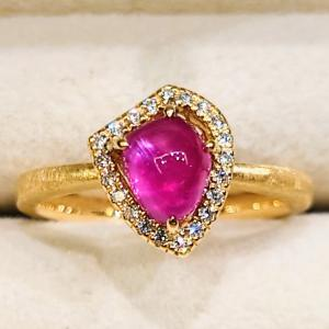 なんだ…この形、カボションカットのかわいい指輪