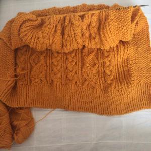 ビタミンカラーニット、編みなおし