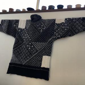 編み込み模様のセーター完成