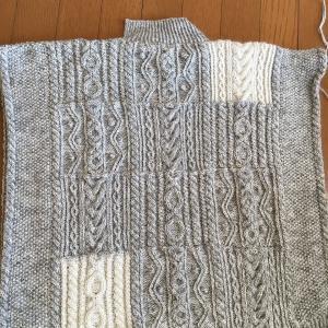 アランセーター パーツ編みあがり