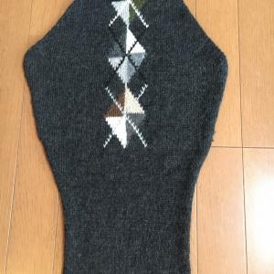 袖が編みあがりました