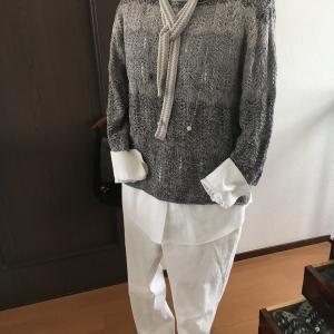 透かし編みのセーター完成です