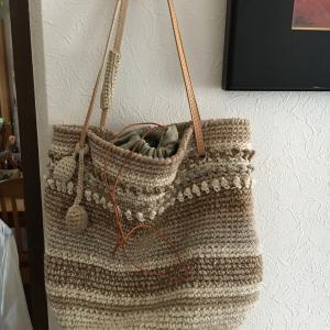 細編みのバッグ完成