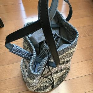 2個目の細編みのバッグ完成
