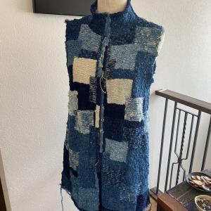 藍染のカーデイコート