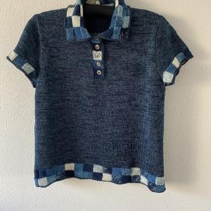 藍染 ポロシャツ 完成