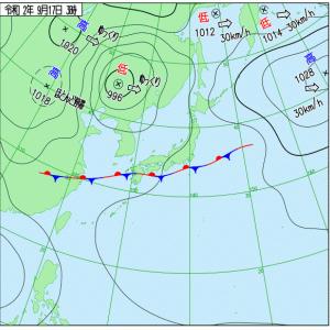 西日本は昼から雨