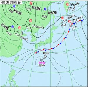 台風発生、大雨になる