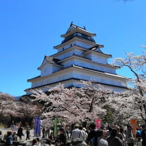 桜を観に鶴ケ城へ