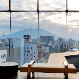 ホテルから桜島が見える❗