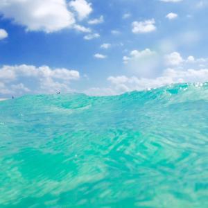はての浜の海の中