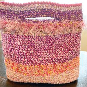 手編み バッグ ちょっとそこまで用編