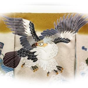 名古屋市で鷹の柄の【男の子のお宮参りの着物】をお探しなら