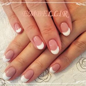 ピンク×ホワイトのフレンチネイル【東灘区 ネイルサロン】