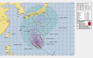 台風16号情報